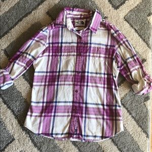 North Face Flannel Shirt, Size M